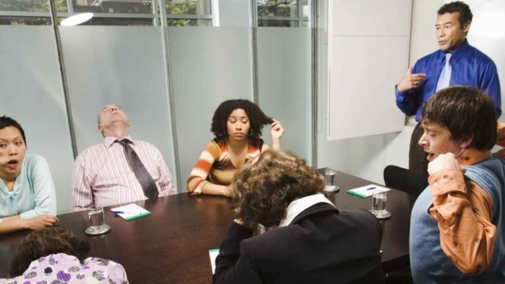 Stop the bad behavior in the meeting.